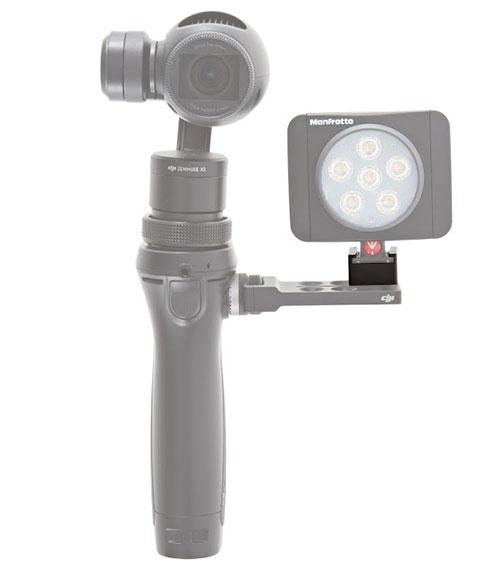 Fixez votre lampe LED ou tout autre accessoire avec fixation hot shoe sur le DJI Osmo