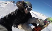Fixation main et poignet pour GoPro utilisé sur un snowboard