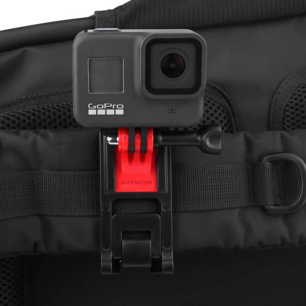 Fixation pince pour sac à dos pour action cams