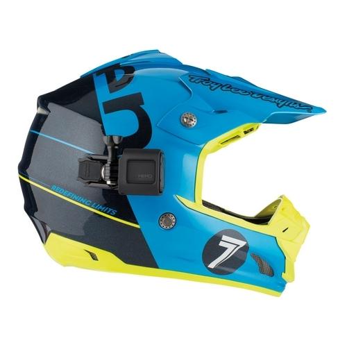 Fixation casque rotative pour Hero Session montée sur un casque de motocross