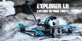 Fixation TPU pour caméra Naked Hero6/7 et Insta360 Go - Flywoo