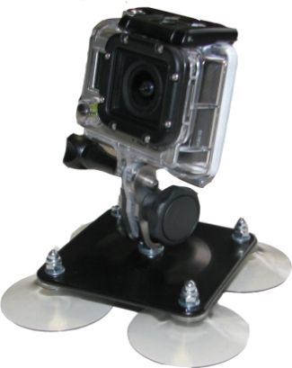 Fixation quadri-ventouse haute performance pour GoPro- photo 2