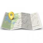 Carte avec drone géolocalisé grâce au tracker Flytrex