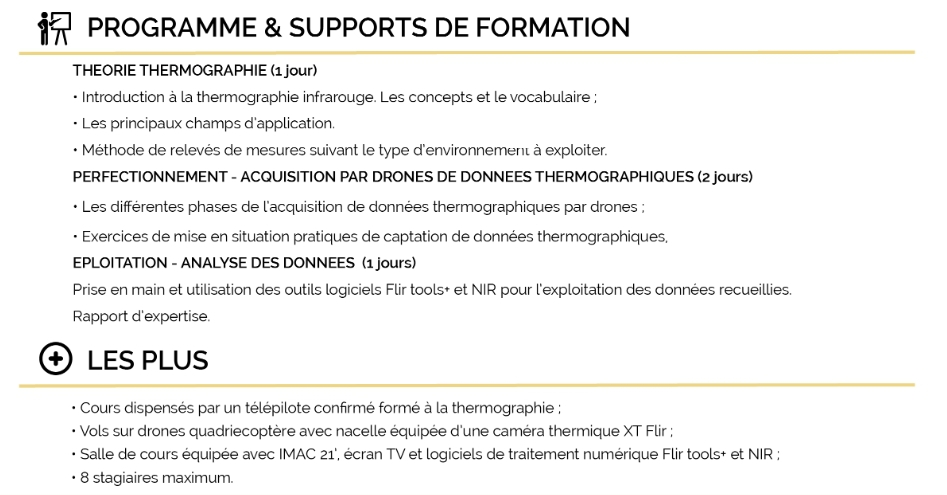 Formation thermographie aérienne (4 jours)