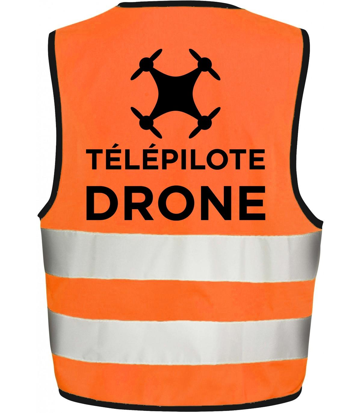 Gilet de sécurité orange pour télépilote