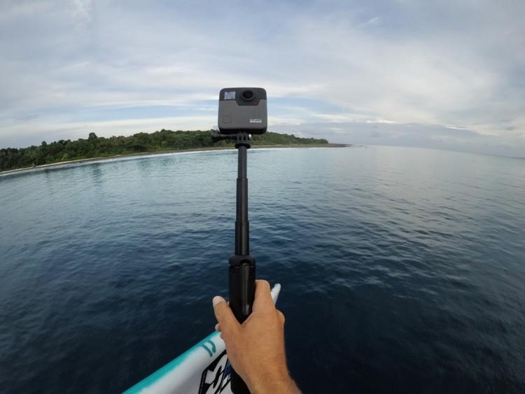 GoPro Fusion 360 sur une perche extensible