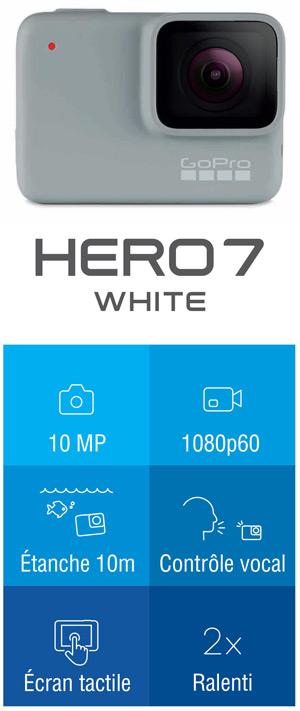GoPro hero7 White caractéristique