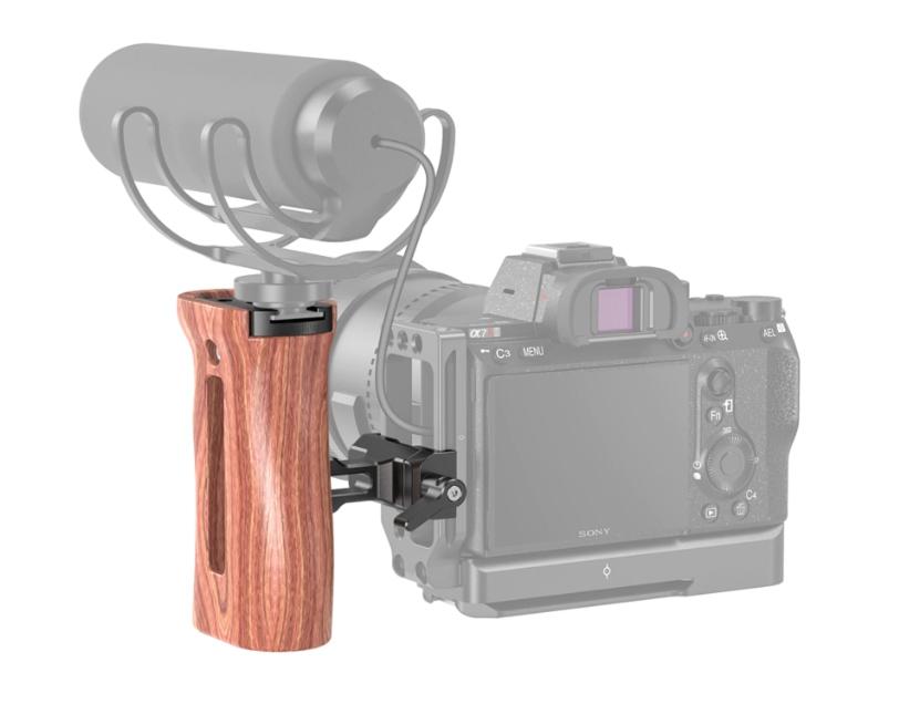 Grip en bois pour DSLR avec fixation Arca HSN2399 - SmallRig