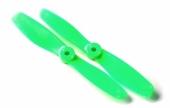 2 hélices GemFan 5x4.5 bullnose horaires - Vert