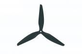 Hélice HQ MacroQuad Prop 9X5X3R (CW) renforcée Carbone-Nylon - HQProp