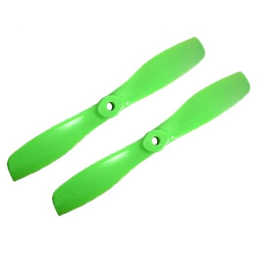 2 hélices GemFan 5.5x5 bullnose anti-horaires vertes