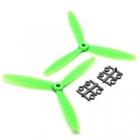 Hélices 6x4 Tripale Horaires GemFan Vert