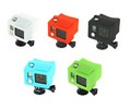 Housse silicone STS pour GoPro Hero 3+ avec caisson