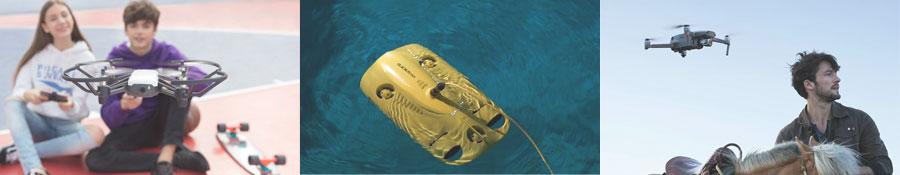 Drones loisir, prise de vue et sous-marins