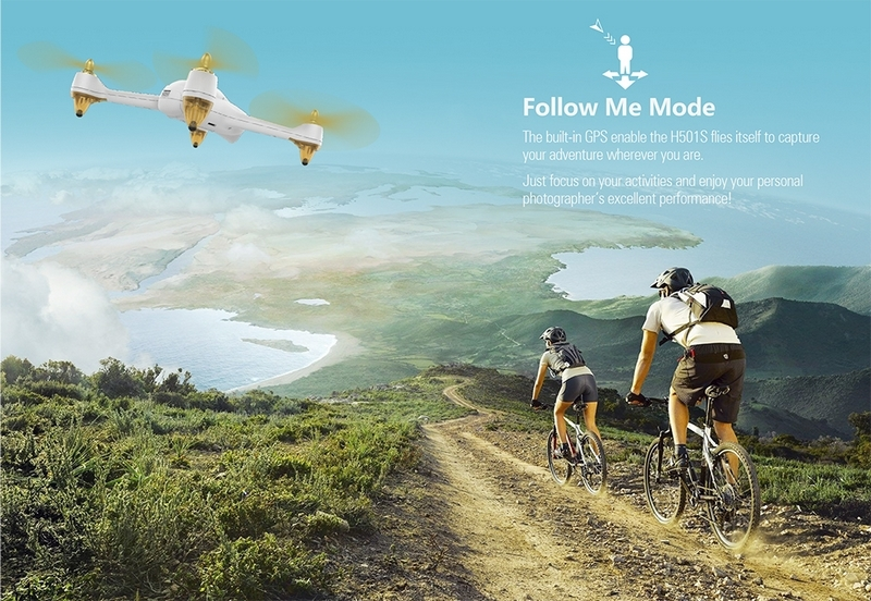 Mode Follow Me  - Quadricoptère Hubsan H501S
