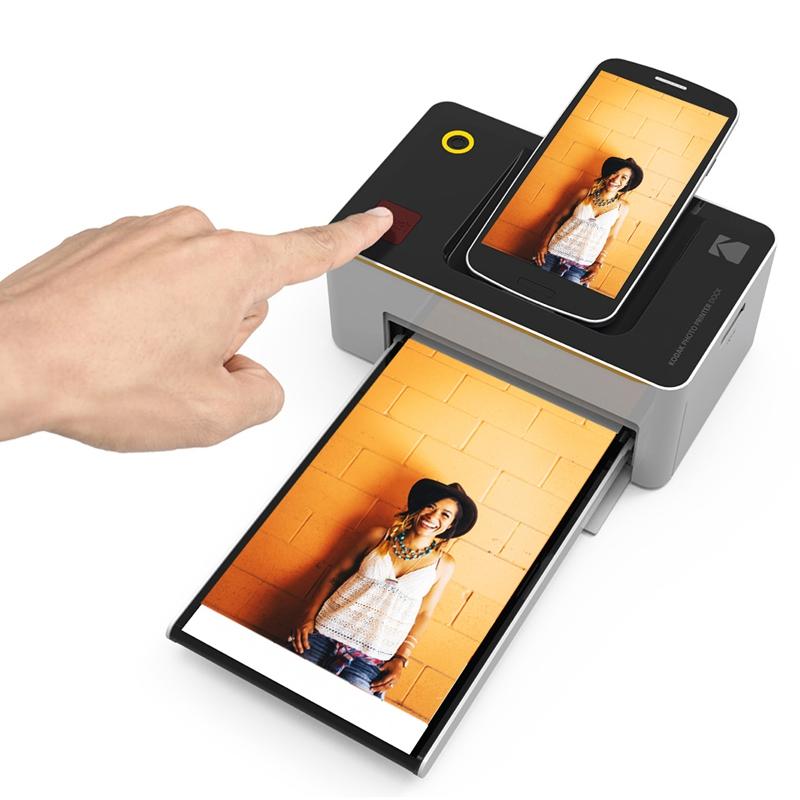 L'imprimante Kodak nécessite une simple pression sur la commande d'impression pour lancer le procédé