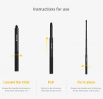 Invisible Selfie Stick pour Insta360 ONE X