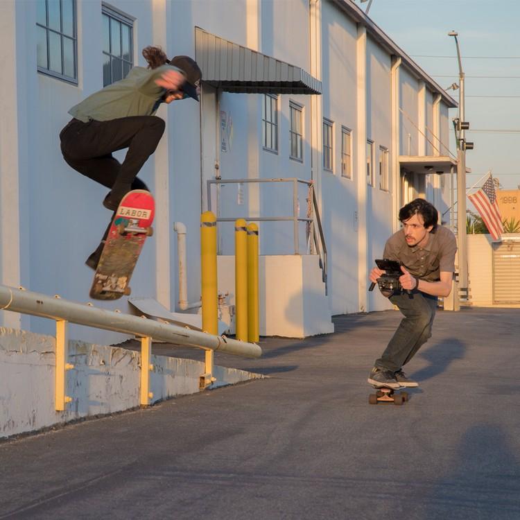 Katana pour DJI Mavic Pro utilisé dans un skate park