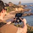 Katana avec drone DJI Mavic Pro en train de filmer des falaises