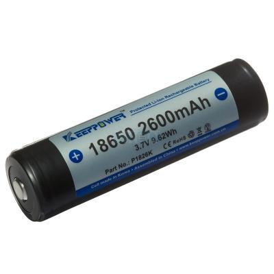 Keeppower 18650 2600mAh (Protégé) - 8A - NKON