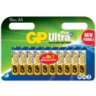 Kit de 10 piles AA alcalines Ultra Plus - GP