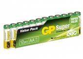 Kit de 12 piles AA alcalines Super - GP