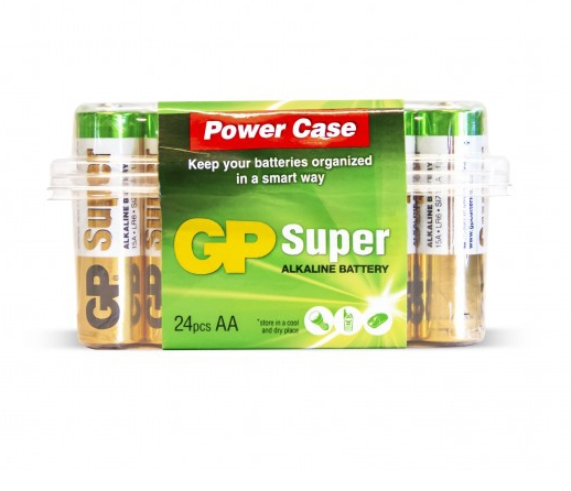Kit de 24 piles AA alcalines Super - GP