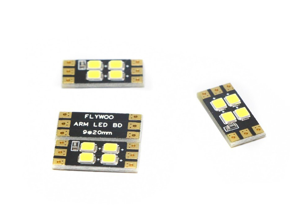 Kit de 4 LEDs colorées 9x20mm 2-6S - Flywoo