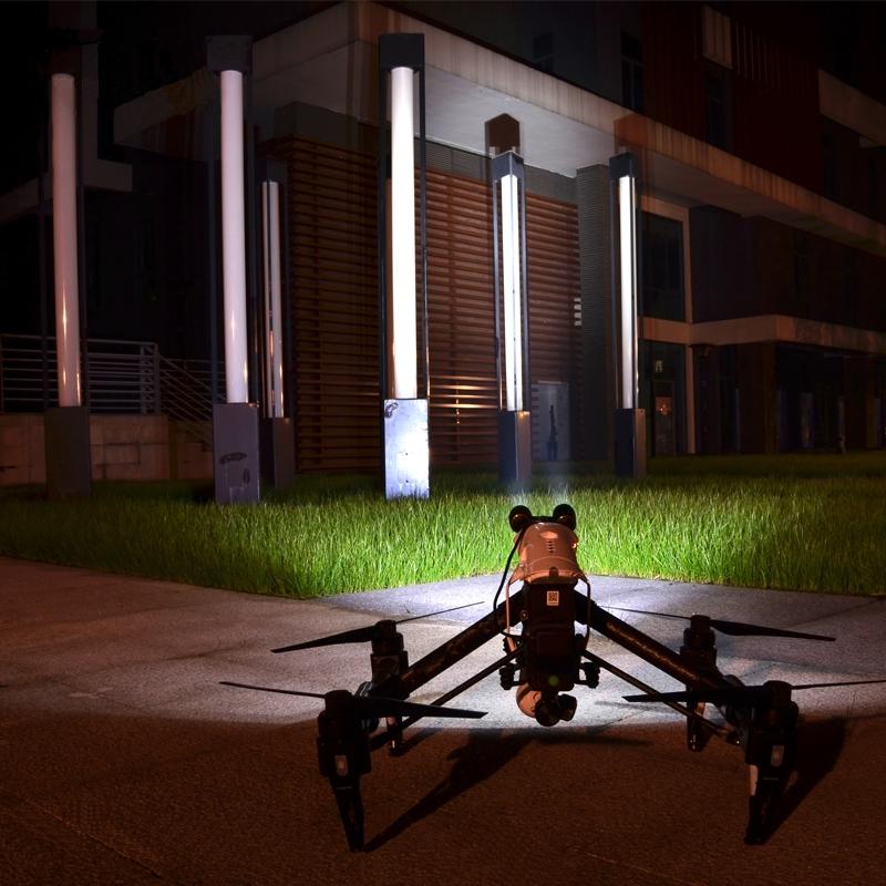 Le kit LED pour DJI Inspire 1 offre une incroyable puissance d'éclairage de 600 Lumens