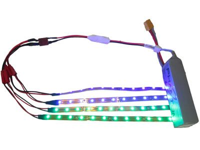 Kit LED pour Quadrirotor (4 barres, 2 couleurs) - Photo 1