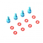 Kit support FC Alu 6061 et silicone rings pour AstroX X5 johnnyFPV Edition