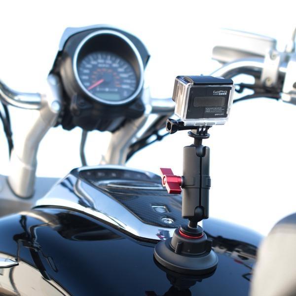 Kit ventouse articulée - Kamerar - fixé sur une moto