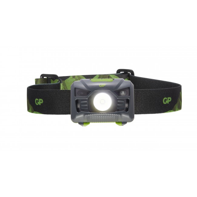 Lampe frontale GP Discovery allumée