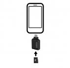 Lecteur de cartes microSD Quik Key (Micro-USB)