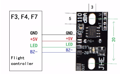 LED RGB + Buzzer 110dB