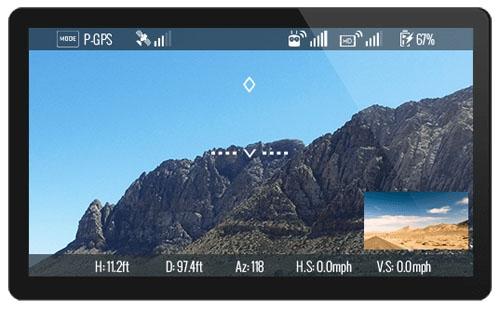 """Ce système Lightbridge 2 propose des de puissantes fonctions comme la \""""Picture-in-picture\"""" qui permet d\'avoir la vue du pilote et du cadreur dans l\'application DJI GO."""