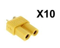 Lot de 10 connecteurs XT30 femelle