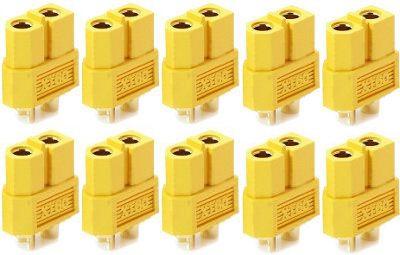 Lot de 10 connecteurs XT60 femelles