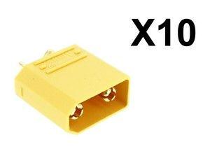 Lot de 10 connecteurs XT90 mâle