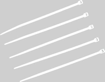 Lot de 100 colliers serre-câbles 100 x 2.5 mm blancs
