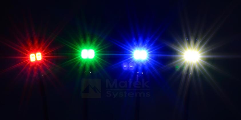 Lot de 2 pad de LED circulaire 5V Matek