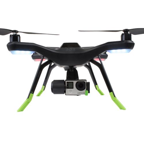 Lot de 4 extensions pieds 3DR SOLO monté sur le drone - vue de face