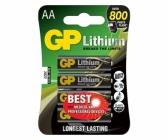 Lot de 4 piles Lithium Haute-Performance GP noire capacité piège photographique 134562GP