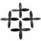 Lumenier 4x4x4 - 4 Blade Propeller (Set of 4 - Black) 4 hélices vues de face