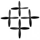 Lumenier 5x4x4 - 4 Blade Propeller (Set of 4 - Black) 4 hélices vues de face