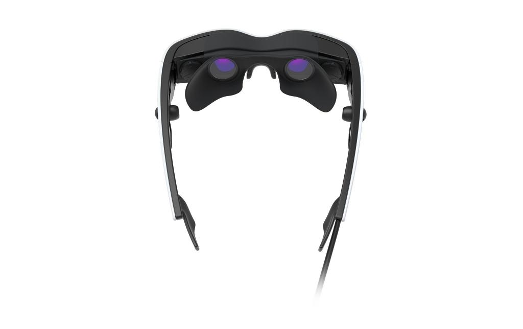 Lunettes Cinemizer OLED 3D vue arrière avec l'accessoire Eyeshield