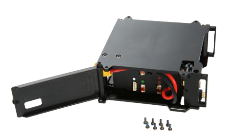 matrice 100 part03 compartiment batterie