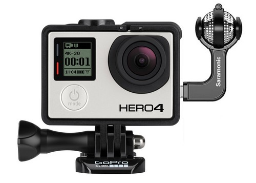 Micro GoMic monté sur une caméra GoPro Hero4