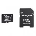 Carte microSD 64Go classe10 - Integral