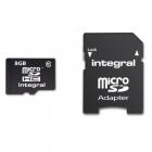 Carte microSD 8Go classe10 - Integral